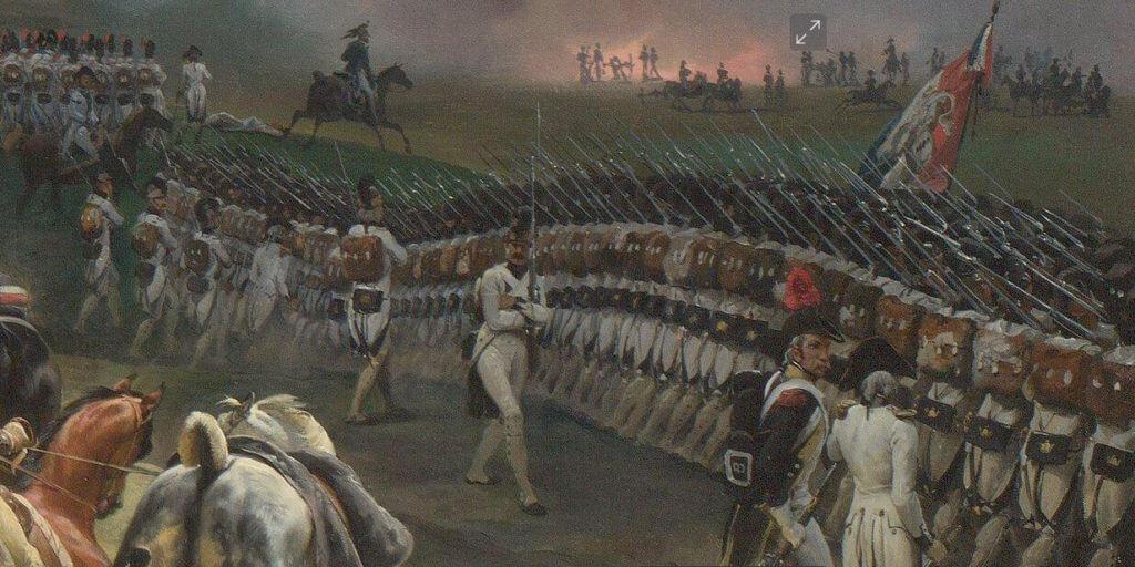 Francouzská pěchota u Valmy (Vernet)