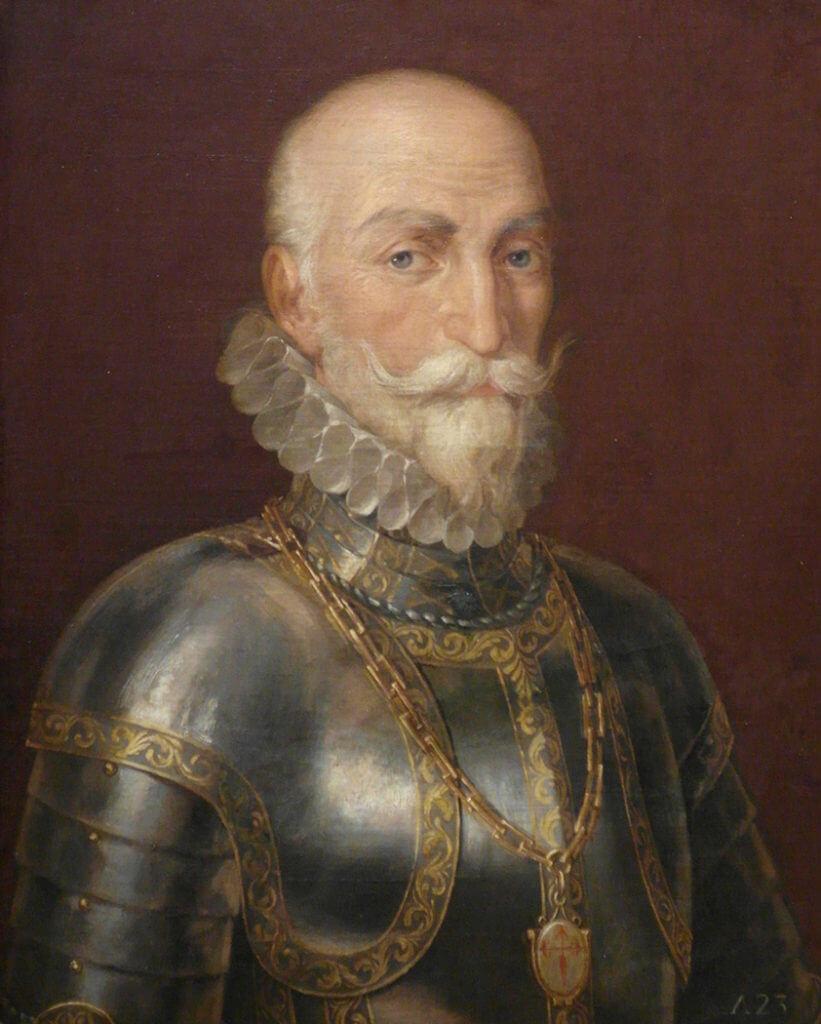 Španělský velitel Álvaro de Bazán, poslední Filippův soupeř a de facto i vrah.