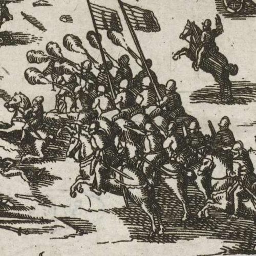 Jízdní arkebuzíři se prosazovali jako nový typ jezdectva s krátkými puškami s lehčí výzbrojí.