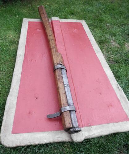 Rekonstrukce hradební pušky ze sdružení Civitas Pragensis.