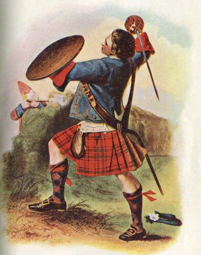 Voják z klanu MacBean v bitvě u Cullodenu.