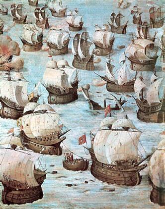 Znázornění Strozziho poslední bitvy v El Escorial.