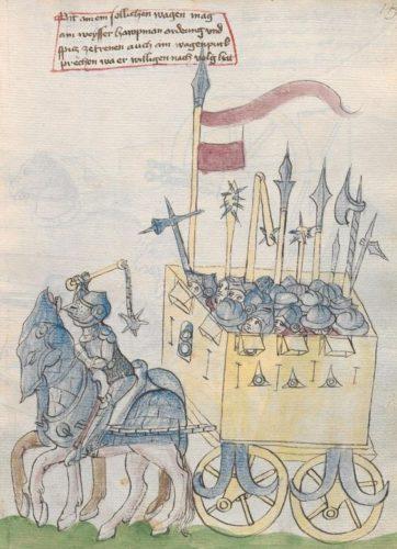 Další vyobrazení bojového vozu z 15. století