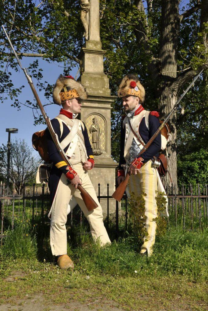 Kaprál fyzilírů a granátník francouzské pěchoty 1792-1797