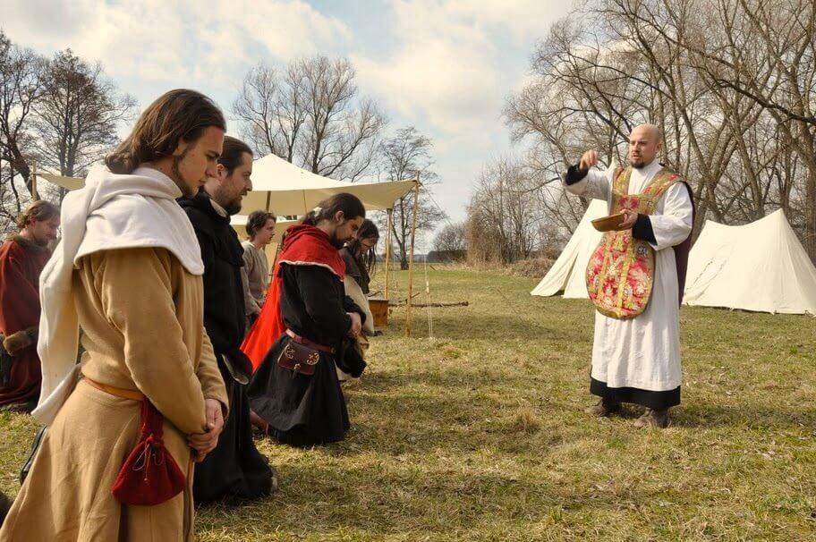 Modlitba před každým bojem byla důležitou součástí husitských tažení