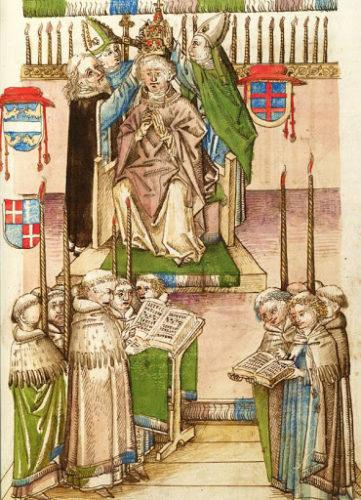 Korunovace papeže Martina V., která proběhla 21. listopadu 1417 v Kostnici.