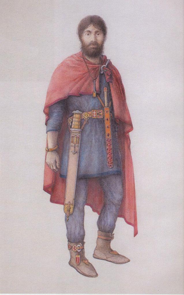 Rekonstrukce vzhledu germánského velmože z Blučiny podle Pavla Dvorského