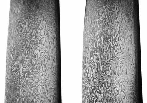 Vzor na originální čepeli damascénského meče z 13. století