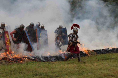 Římské legie během vystoupení v roce 2016 na Kvildě