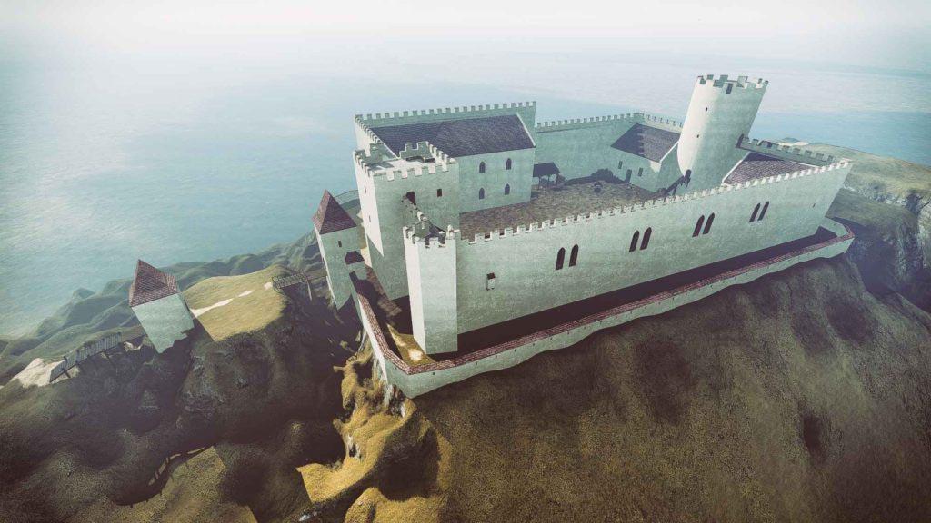 Rekonstrukce pozdně středověké podoby hradu Špilberku od Petra Vavrečky podle zadání Muzea města Brna z roku 2017