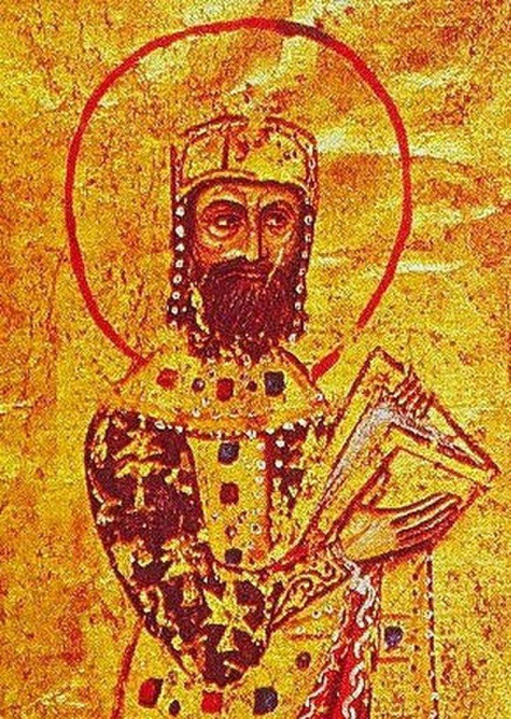 Portrét císaře Alexia I. Komnena z řeckého rukopisu