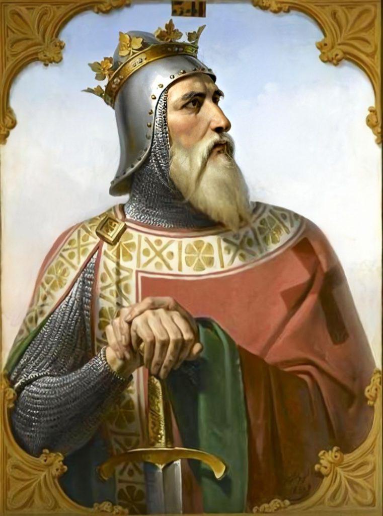 Normanský válečník Robert Guiscard v představě francouzské malíře Merryho-Josepha Blondela