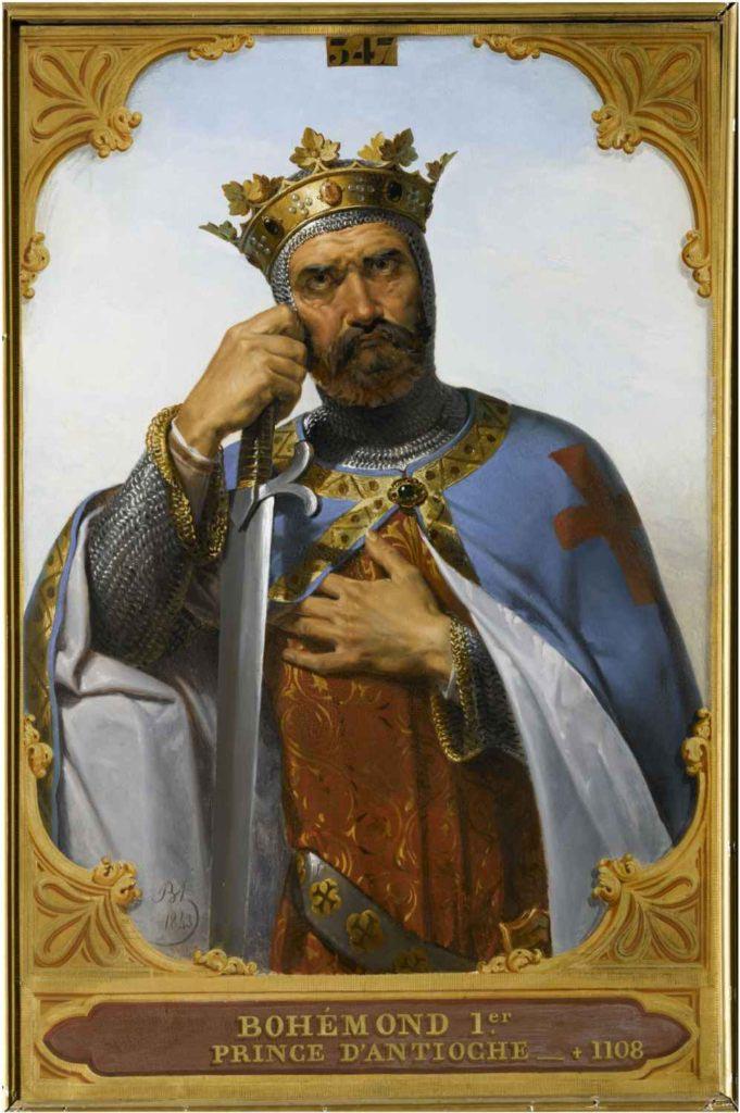 Normanský válečník a jeden z předních účastníků křížové výpravy Bohemund z Tarentu v představě malíře Merryho-Josepha Blondela