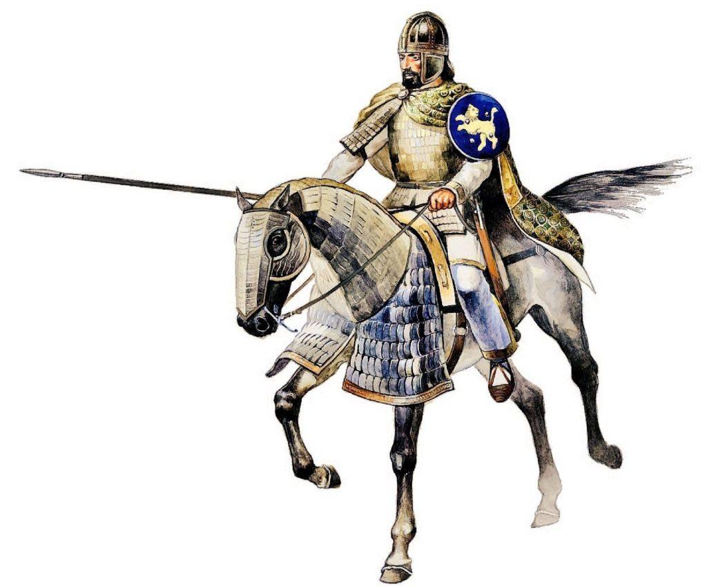 Byzantský těžce ozbrojený katafrakt