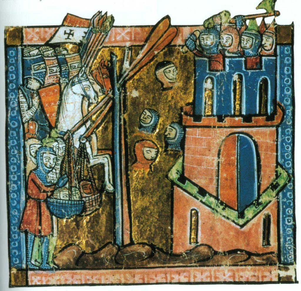 Křížáci s Byzantinci obléhají Nikaiu v červnu 1097. Obléhatelé prý vrhali do města useknuté hlavy nepřátelských Turků