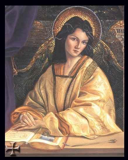 Romantizující zobrazení byzantské princezny Anny Komneny, dcery císaře Alexia I
