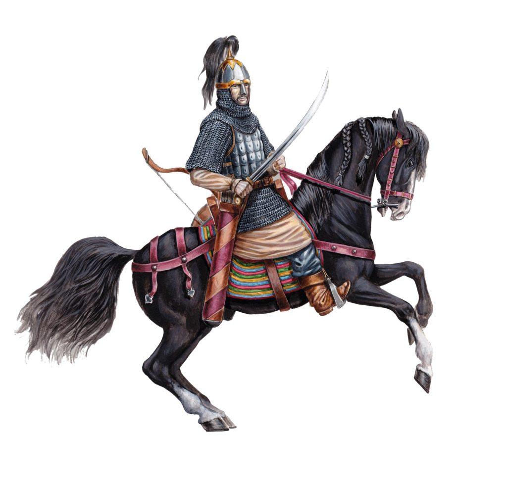 Seldžucký dobře ozbrojený ghulám. I když Turci často bojovali proti Byzanci, v několika bitvách figurovali i jako císařovi spojenci
