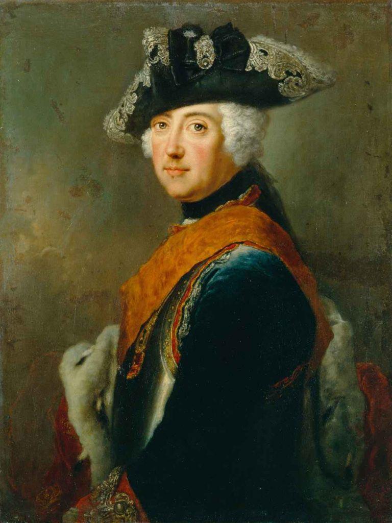 Portrét Fridricha II z doby první slezské války