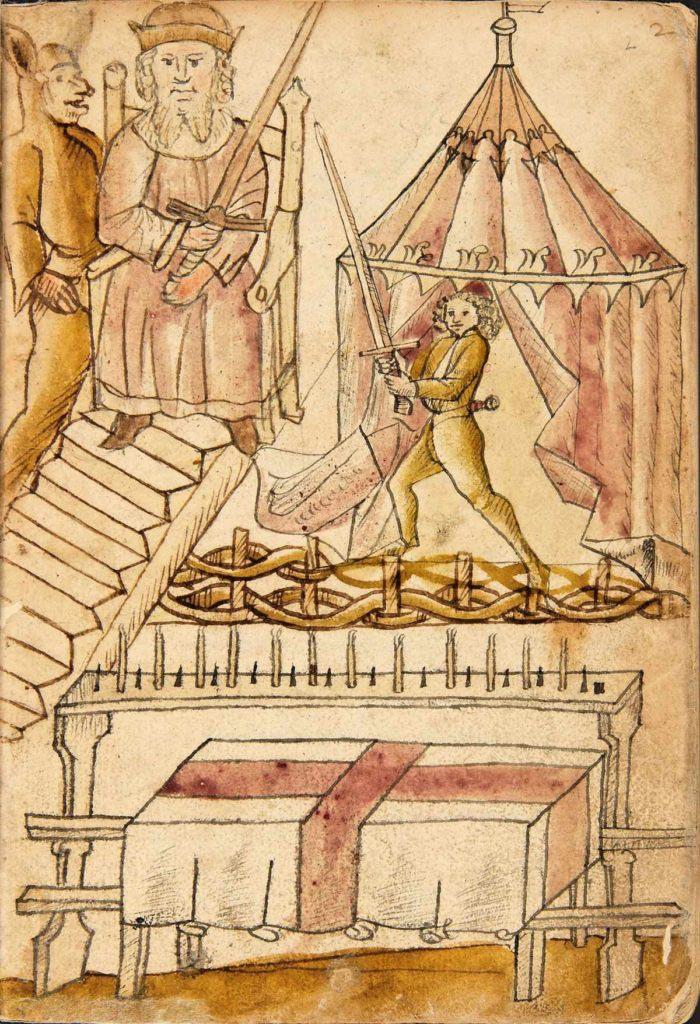 Jedna z úvodních iluminací v Kodexu Wallerstein
