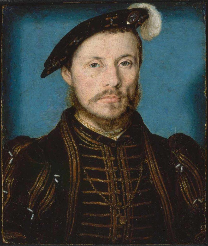 """Konstábl Anne de Montmorency, který měl sice přezdívku Beausabreur (Krásný šermíř), ale jako velitel si myslel, že stačí zakřičet na své muže """"Vpřed!"""""""