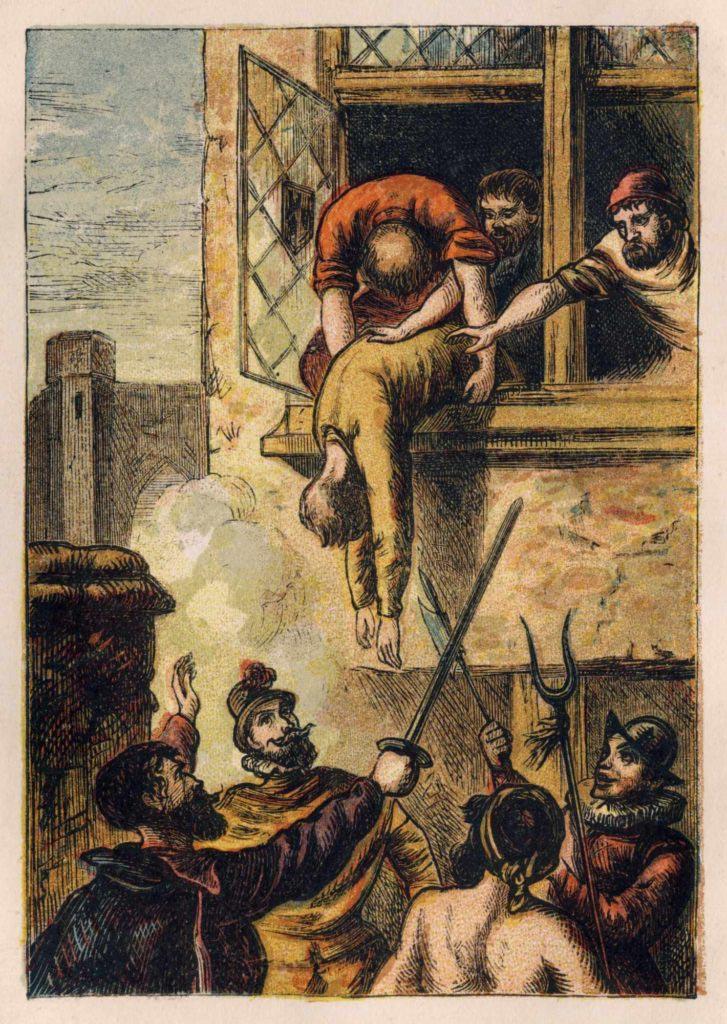 Vražda admirála Colignyho, která odstartovala takzvanou Bartolomějskou noc