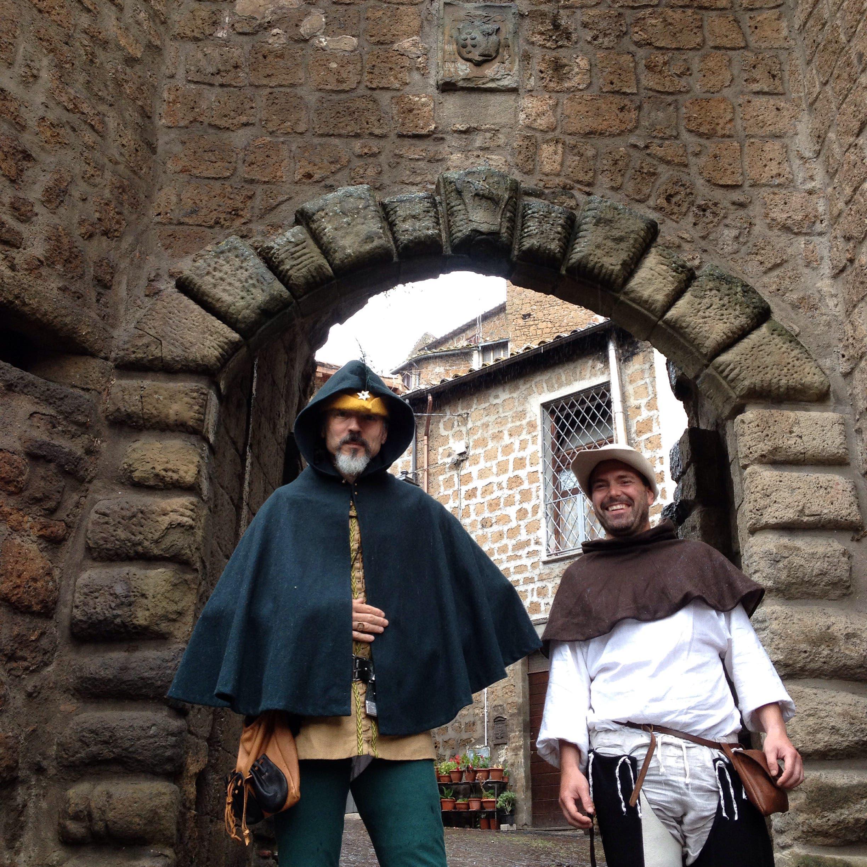 Christian Cameron na reenactmentu v italské Veroně