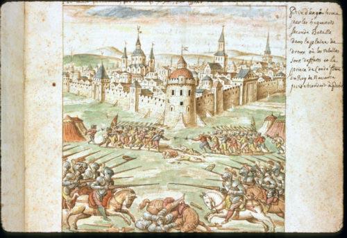 Bitva u Dreux (1562) na vyobrazení z roku 1577