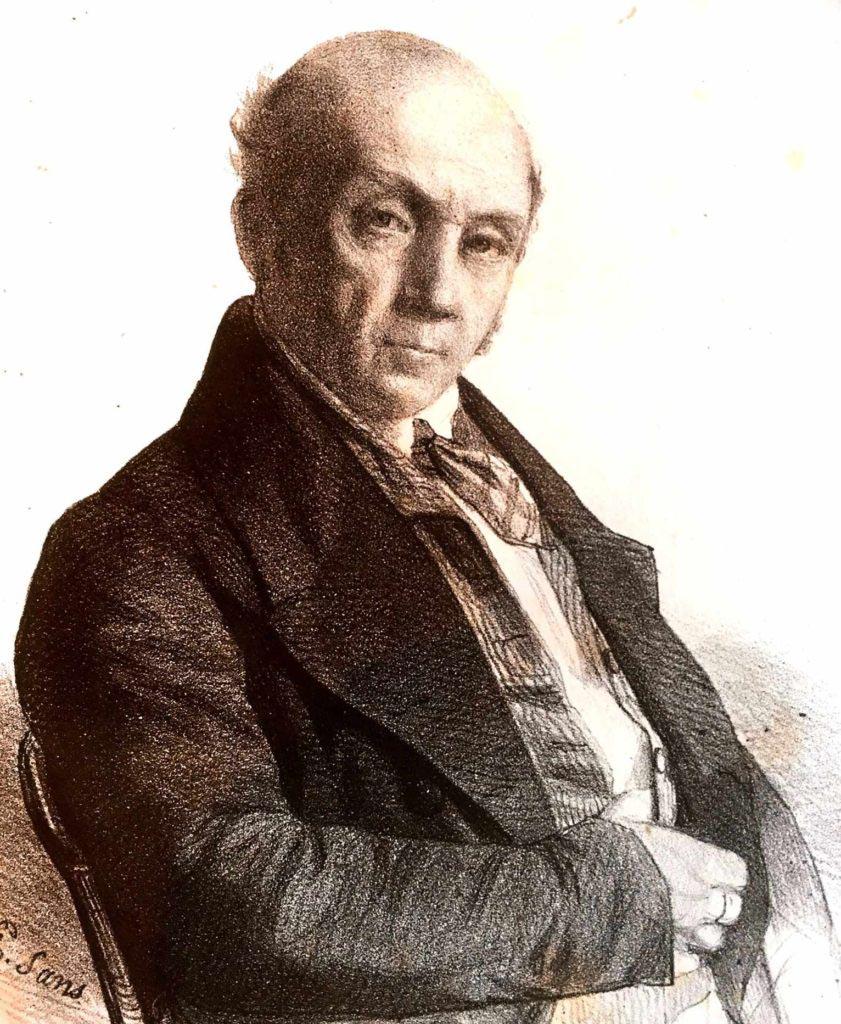 Šermířský mistr Jean-Louis-Laurent-Justin Lafaugère ve starším věku