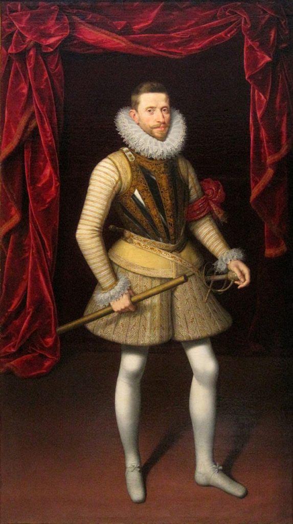 Albrecht VII. Habsburský v letech 1599 - 1600 tedy jako vrchní velitel flanderské armády