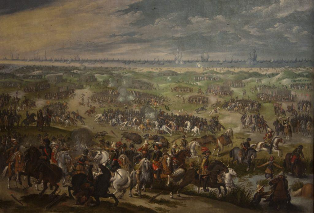 Bitva u Niewupoortu v plném proudu