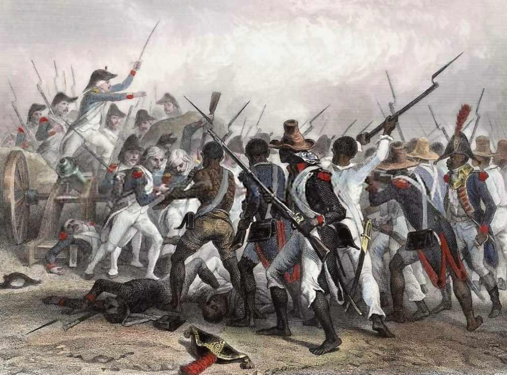 Povstání otroků na Saint-Domingue. Takzvaná Haitská revoluce probíhala v letech 1791–1804