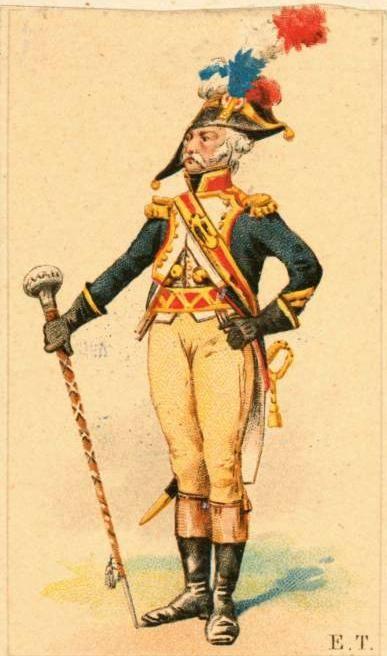 Tambour-major francouzské řadové pěchoty