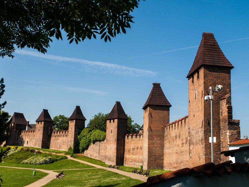 Hradby města Nymburk. Jejich počátek lze datovat do druhé poloviny 13. století